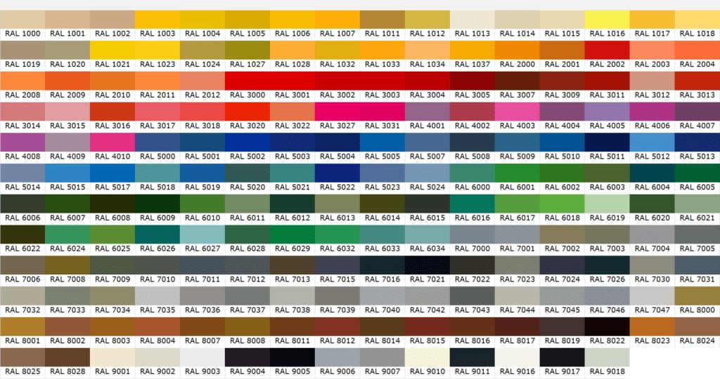 RAL Renk Kaleterası - ral kaleterasi